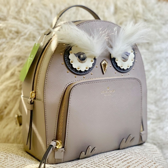a4d02b24db714 Kate Spade Star Bright Owl Tomi Leather Backpack